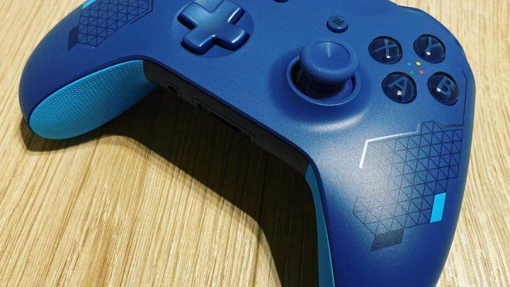Xbox One Wireless Controller Sport Blue #XboxOne #Controller #Manette #SportBlue #Xbox #SoBlue #Collector #Bleu #Grip #S…