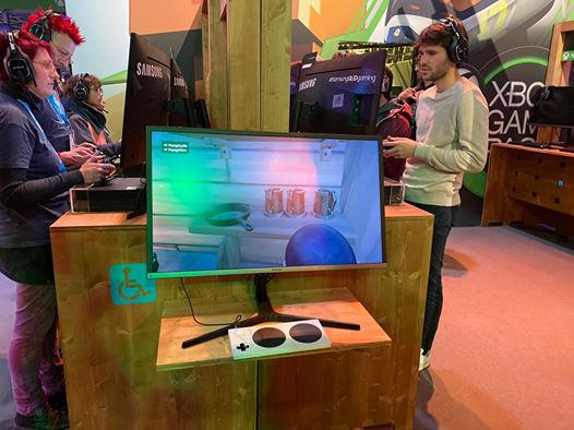C'est ça l'accessibilité sur le stand Xbox FR de la Paris Games Week 2019. C'est très classe 😍
