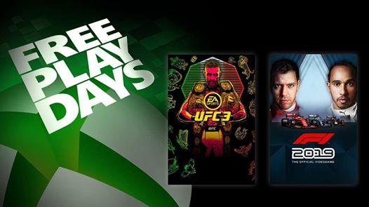 Pour les membres Xbox Live Gold, UFC 3 et à F1 2019 sont jouables gratuitement ce week-end jusqu'au 3 novembre.